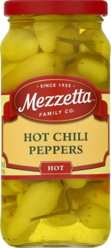 Mezzetta Hot Chili Peppers Perspective: front