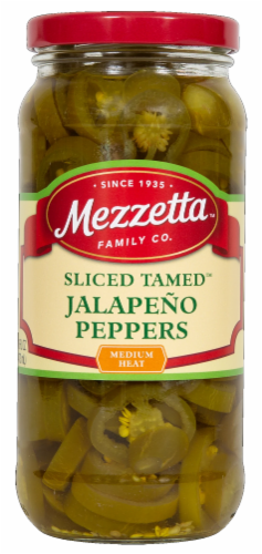 Mezzetta Deli-Sliced Tamed Jalapeno Peppers Perspective: front