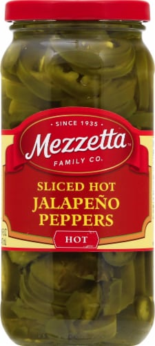 Mezzetta Deli-Sliced Hot Jalapeno Peppers Perspective: front