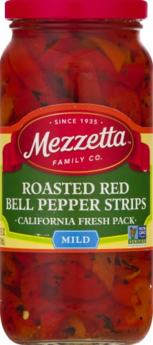 Mezzetta Deli-Sliced Roasted Bell Pepper Strips Perspective: front
