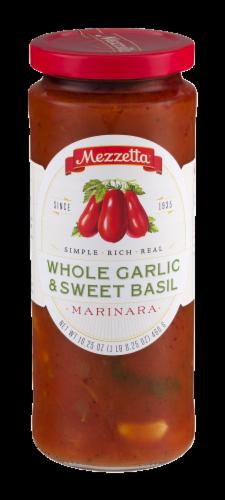 Mezzetta Whole Garlic & Sweet Basil Marinara Sauce Perspective: front