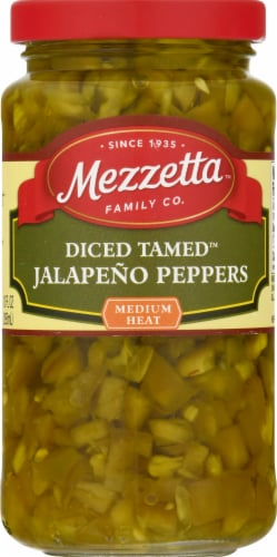 Mezzetta Tamed Diced Jalapeno Peppers Perspective: front