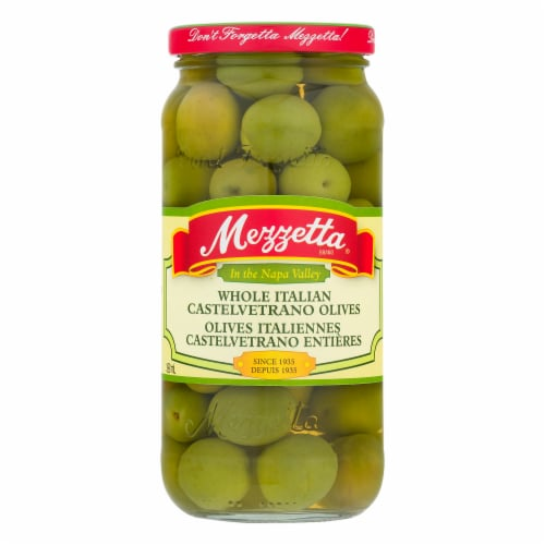 Mezzetta Italian Castelvetrano Whole Green Olives Perspective: front