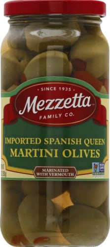 Mezzetta Imported Spanish Queen Martini Olives Perspective: front
