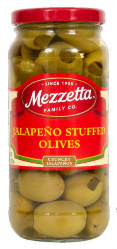 Mezzetta Jalapeno Stuffed Olives Perspective: front