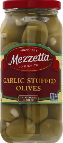 Mezzetta Garlic Stuffed Olives Perspective: front