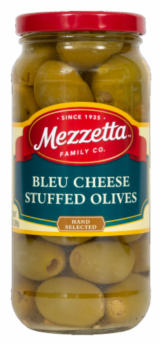 Mezzetta Blue Cheese Stuffed Olives Perspective: front