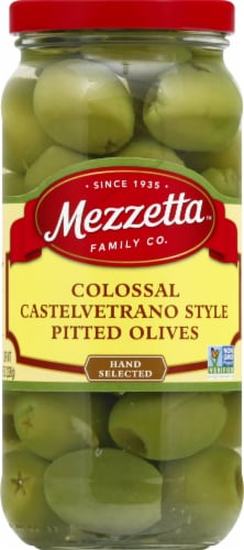 Mezzetta Colossal Castelvetrano Style Pitted Olives Perspective: front