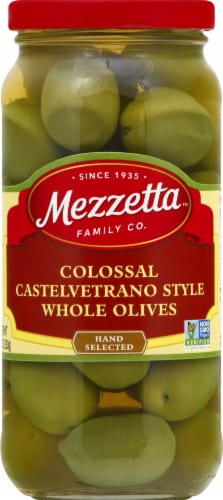 Mezzetta Colossal Castelvetrano Style Whole Olives Perspective: front