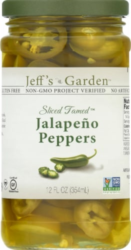 Jeff's Naturals Sliced Tamed Jalapeno Peppers Perspective: front