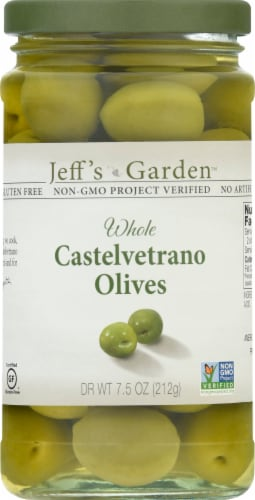 Jeff's Naturals Whole Castelvetrano Olives Perspective: front