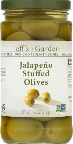 Jeff's Naturals Jalapeno Suffed Olives Perspective: front