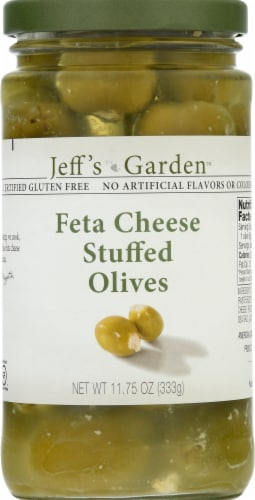 Jeff's Naturals Feta Cheese Stuffed Olives Perspective: front