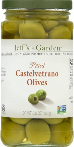 Jeff's Naturals Pitted Castelvetrano Olives Perspective: front