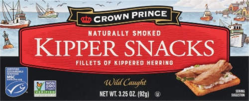 Crown Prince Naturally Smoked Kipper Snack Perspective: front