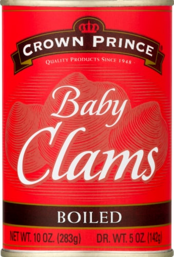 Crown Prince Boiled Baby Clams Perspective: front