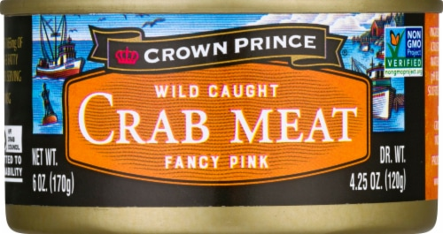 Crown Prince Fancy Pink Crab Meat Perspective: front