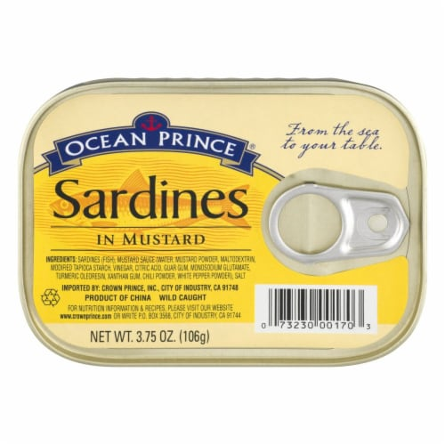 Ocean Prince Sardines in Mustard Perspective: front