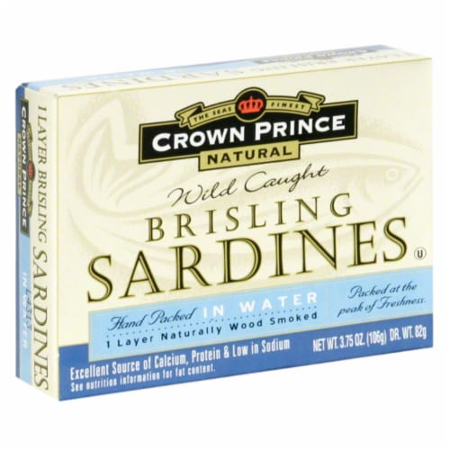 Crown Prince Wild Caught Brisling Sardines Perspective: front