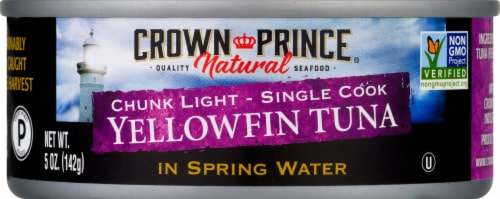 Crown Prince Natural Yellowfin Tuna In Spring Water Perspective: front