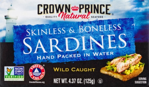 Crown Prince Natural Skinless & Boneless Sardines in Water Perspective: front