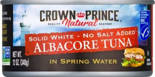 Crown Prince No Salt Added Natural Solid White Albacore Tuna Perspective: front