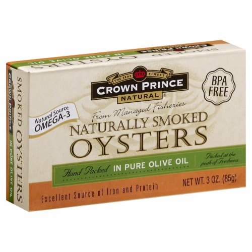 Crown Prince Naturally Smoked Oysters Perspective: front