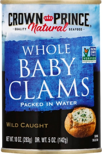Crown Prince Natural Whole Baby Clams Perspective: front