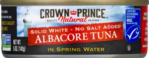 Crown Prince  in Spring Water Natural Albacore Tuna Perspective: front