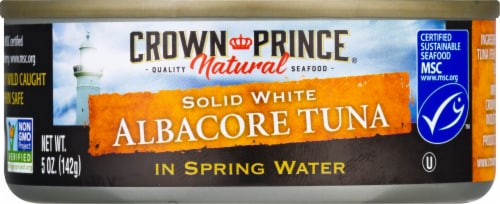 Crown Prince Natural No Salt Added Albacore Tuna in Water Perspective: front