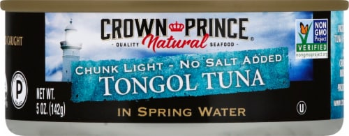 Crown Prince Natural Chunk Light No Salt Added Tongol Tuna In Spring Water Perspective: front