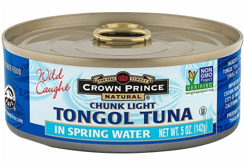 Crown Prince Natural Tongul Tuna Chunk Light In Spring Water Perspective: front