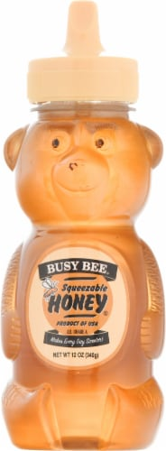Busy Bee Squeeze Honey Bear Perspective: front