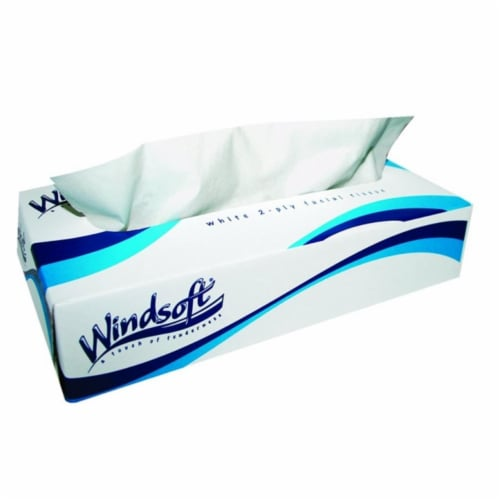 Windsoft 859-2360 Facial Tissue 2- Ly Box-100 Perspective: front