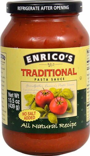 Enricos  Traditional Pasta Sauce No Salt Added Perspective: front