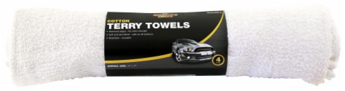 The Detailer's Choice® Cotton Terry Towels - 4 pk - White Perspective: front