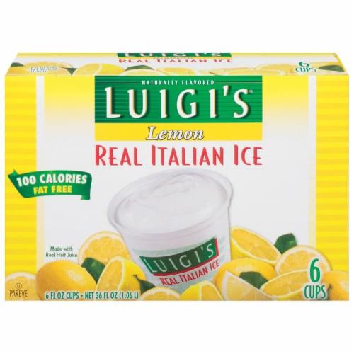 Luigi's Lemon Italian Ice Perspective: front