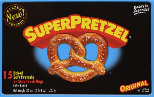 SuperPretzel Soft Pretzel 15ct Perspective: front