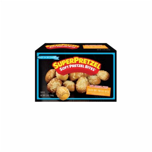 SuperPretzel Soft Pretzel Pub Cheese Bites Perspective: front