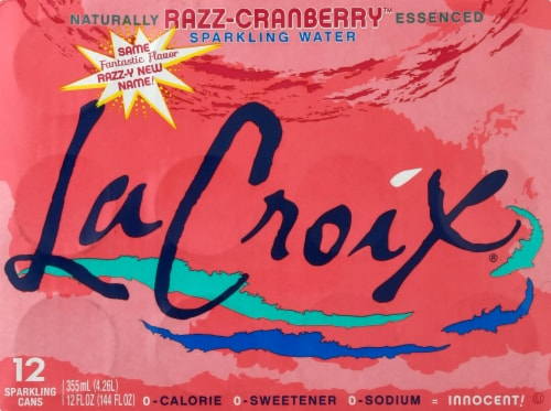 LaCroix Cran-Raspberry Sparkling Water Perspective: front