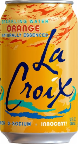 LaCroix Orange Sparkling Water Perspective: front