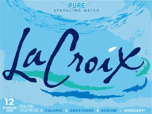 LaCroix Pure Sparkling Water Perspective: front