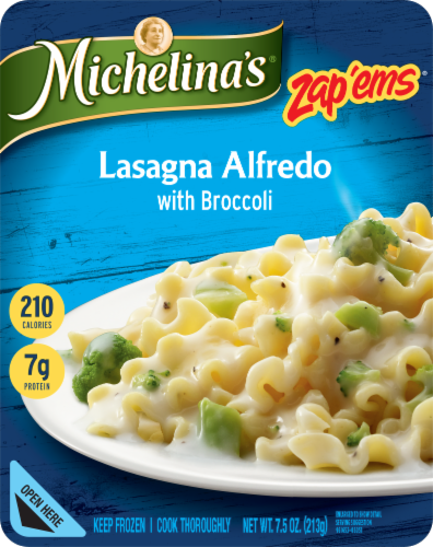 Michelina's Zap'ems Lasagna Alfredo with Broccoli Perspective: front