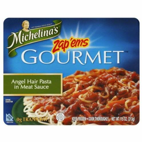Pay Less Michelina S Zap Ems Gourmet Angel Hair Pasta In Meat Sauce