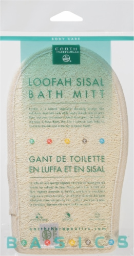 Earth Therapeutics Loofah Sisal Bath Mitt Perspective: front