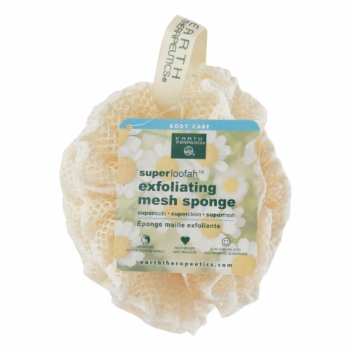 Earth Therapeutics Super Loofah Mesh Sponge Perspective: front