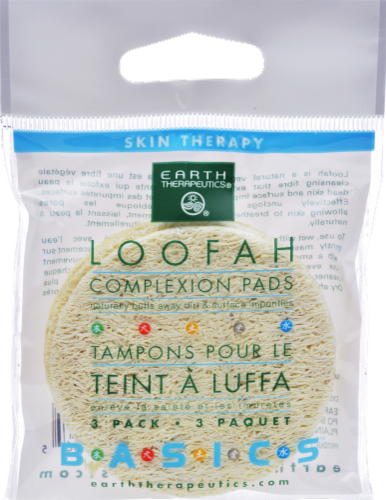 Earth Therapeutics Loofah Complexion Pads Perspective: front