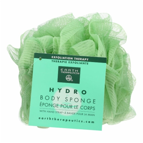 Earth Therapeutics Hydro Body Sponge with Strap Perspective: front