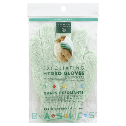 Earth Therapeutics Exfoliating Hydro Gloves Perspective: front