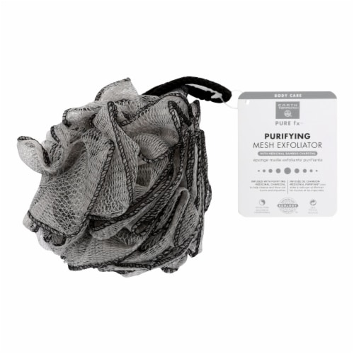 Earth Therapeutics Purifying Mesh Charcoal Exfoliator Perspective: front